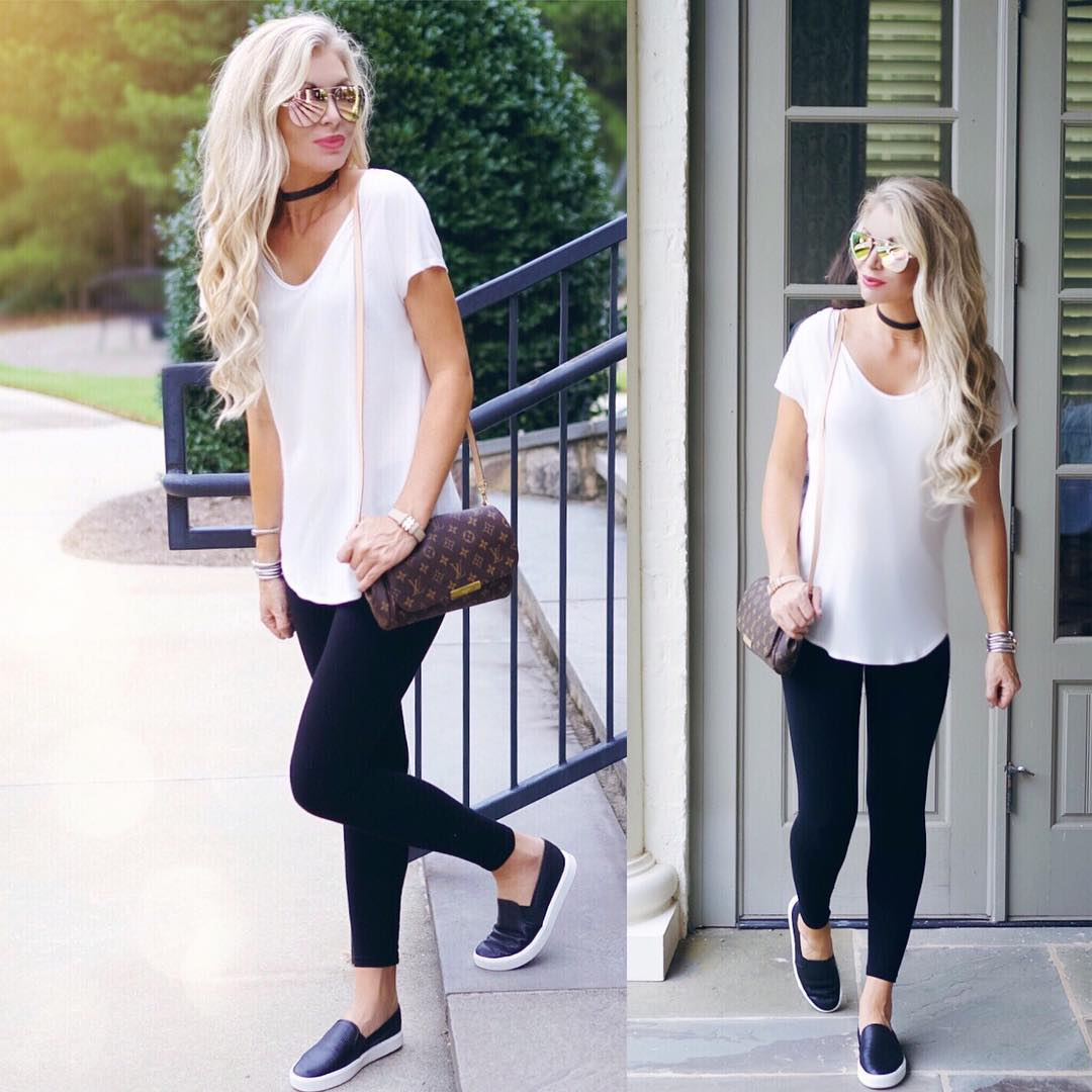 I basically live in these shoes...they are the {#basic black&white combo for the daily errand grind!} http://liketk.it/2p8Qy #happyhumpday #ootd #momlife #wiw #liketkit #errandsaremylife #momstyle