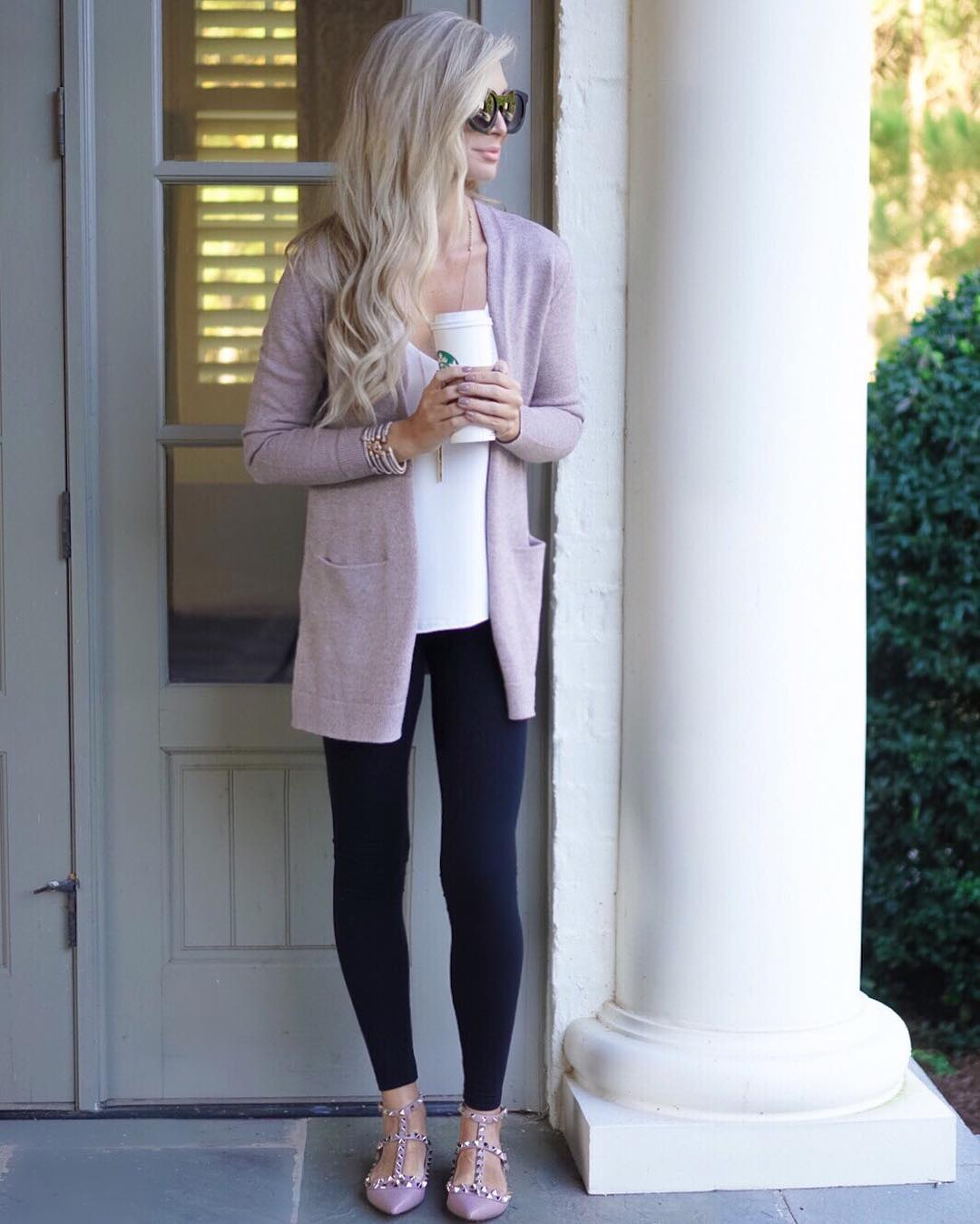 Some mornings a comfy sweater and fancy shoes are the only things keeping me going...and of course multiple cups of coffee!! ☕️ #coffeeismybff http://liketk.it/2ppO4 #fall #fallfashion #ootd #wiw #liketkit #liketkitunder50