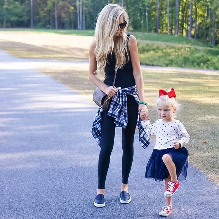 Strolling with my homie!! ❤️Is B pretending to be a knija or a flamingo, I'm not quite sure!? Life with a 3 year old is NEVER boring!! {These leggings are my fav of all time, high waisted & extra thick! } http://liketk.it/2ptKs #momlife #lifewithblove #tgif #fall #fallfashion #ootd #liketkit #liketkitunder50