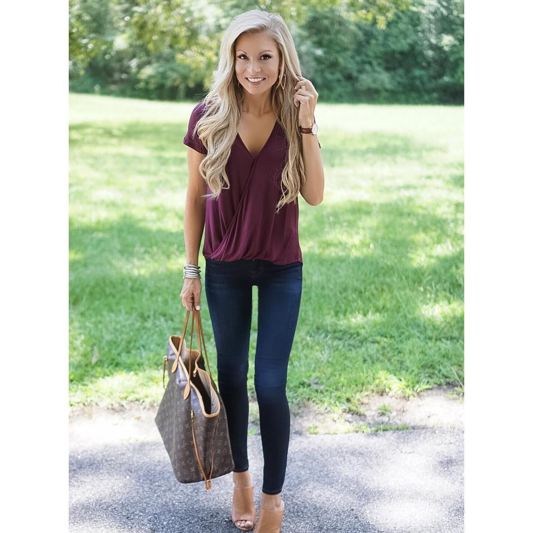 Lunch date with my babe + running errands + getting ready to tackle another week of preschool! Can't believe the weekend is over already!! {I am obsessed with this cross front tee AND it's under $30!} http://liketk.it/2p2aX #sundayfunday #liketkit #wiw #ootd