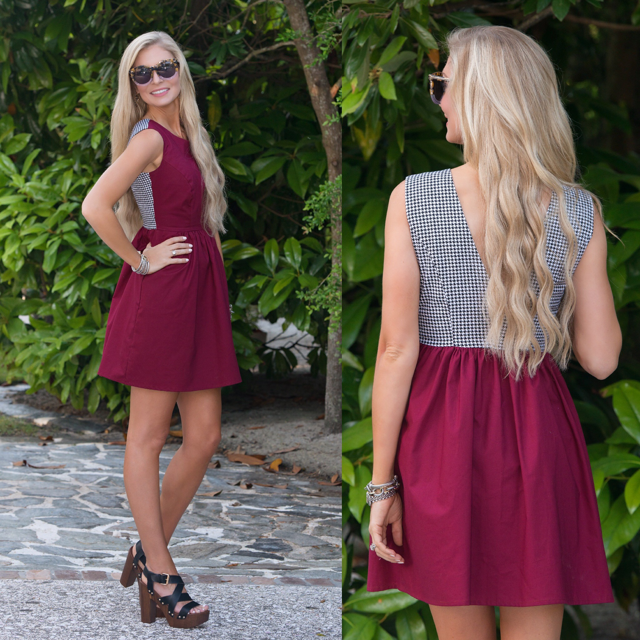 houndstooth roll tide bama dress gameday