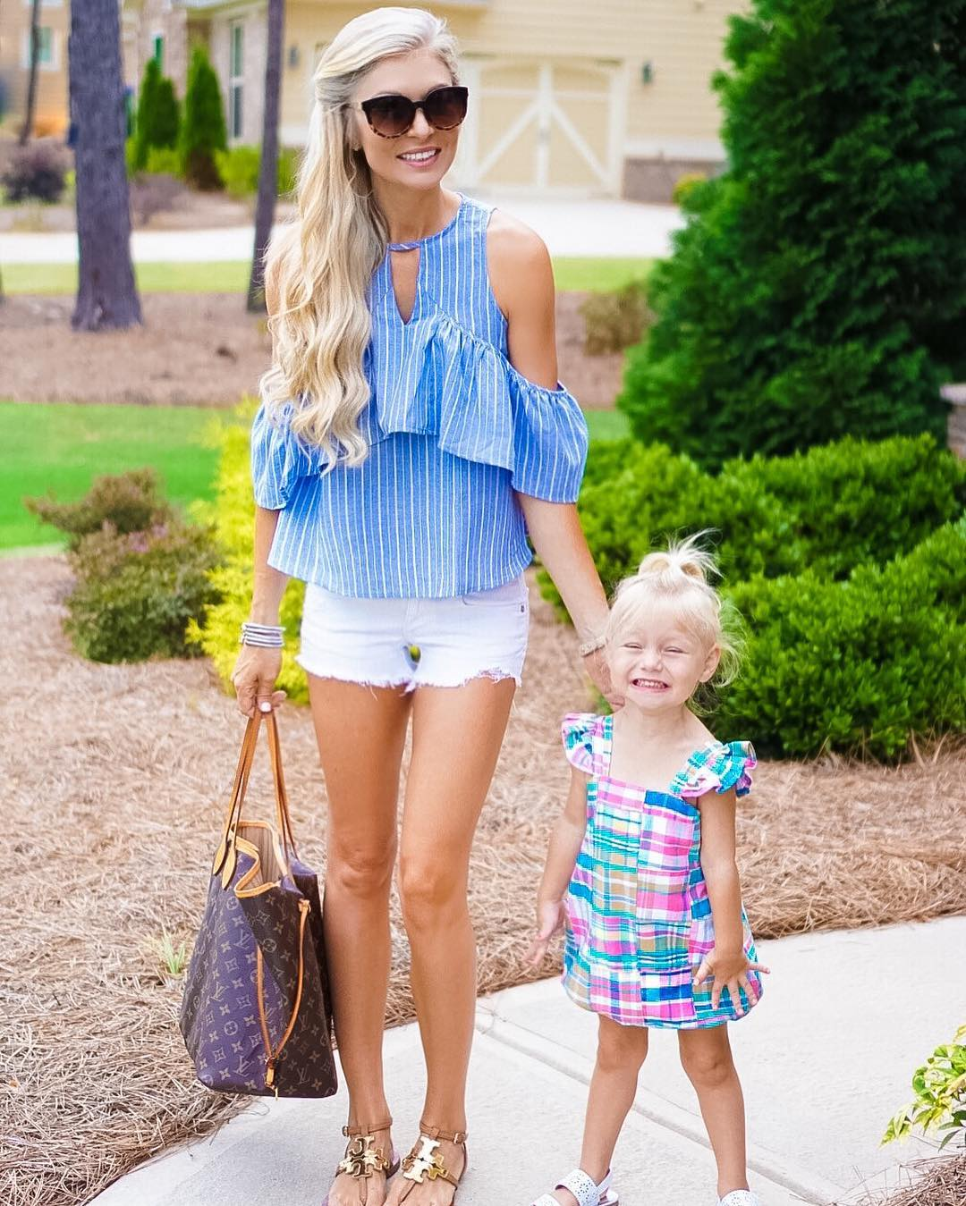 Summer nights with my sidekick! This is her #tgif face! http://liketk.it/2oMQ7 #happyfriday #lifewithblove #summer #momlife
