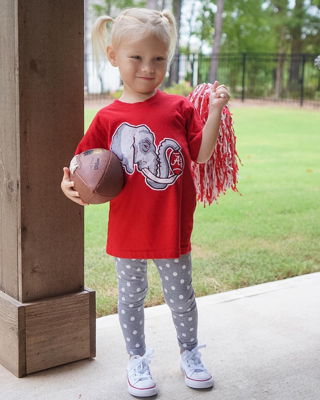 She likes football almost as much as her mama! #rolltide #lifewithblove