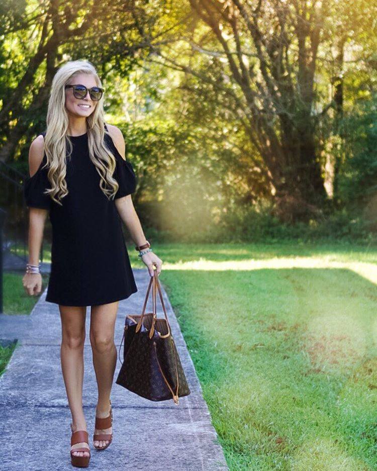 Can a girl ever have enough little black dresses!!?♠️♠️ {This little cold shoulder shift is under $50...and who can resist that!?!} http://liketk.it/2p8yP #liketkit #wiw #ootd #lbd