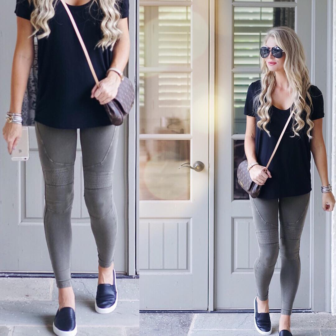 Give me all the comfy cute leggings so I can look somewhat put together, when in reality I'm basically in pjs! Happy Monday friends!! http://liketk.it/2p7YY #mondaze #ootd #wiw #fallfashion #liketkit #readyforfall