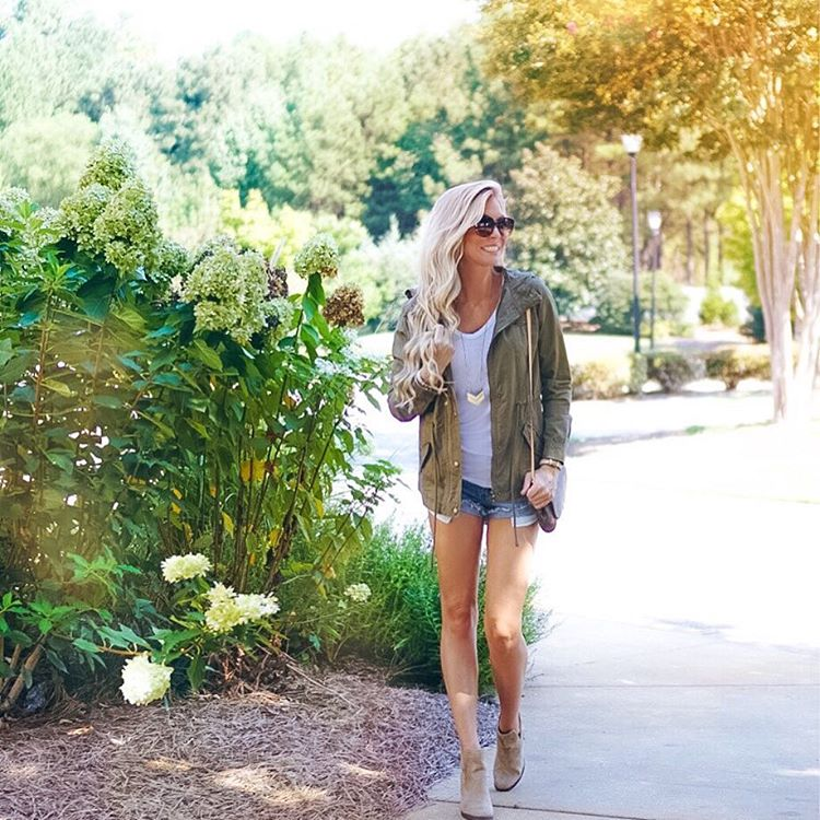 It was actually chilly enough this morning to toss on my fav utility jacket! Fall is finallllly on its way!! http://liketk.it/2p9VW #readyforfall #momuniform #wiw #ootd #fallfashion #liketkit