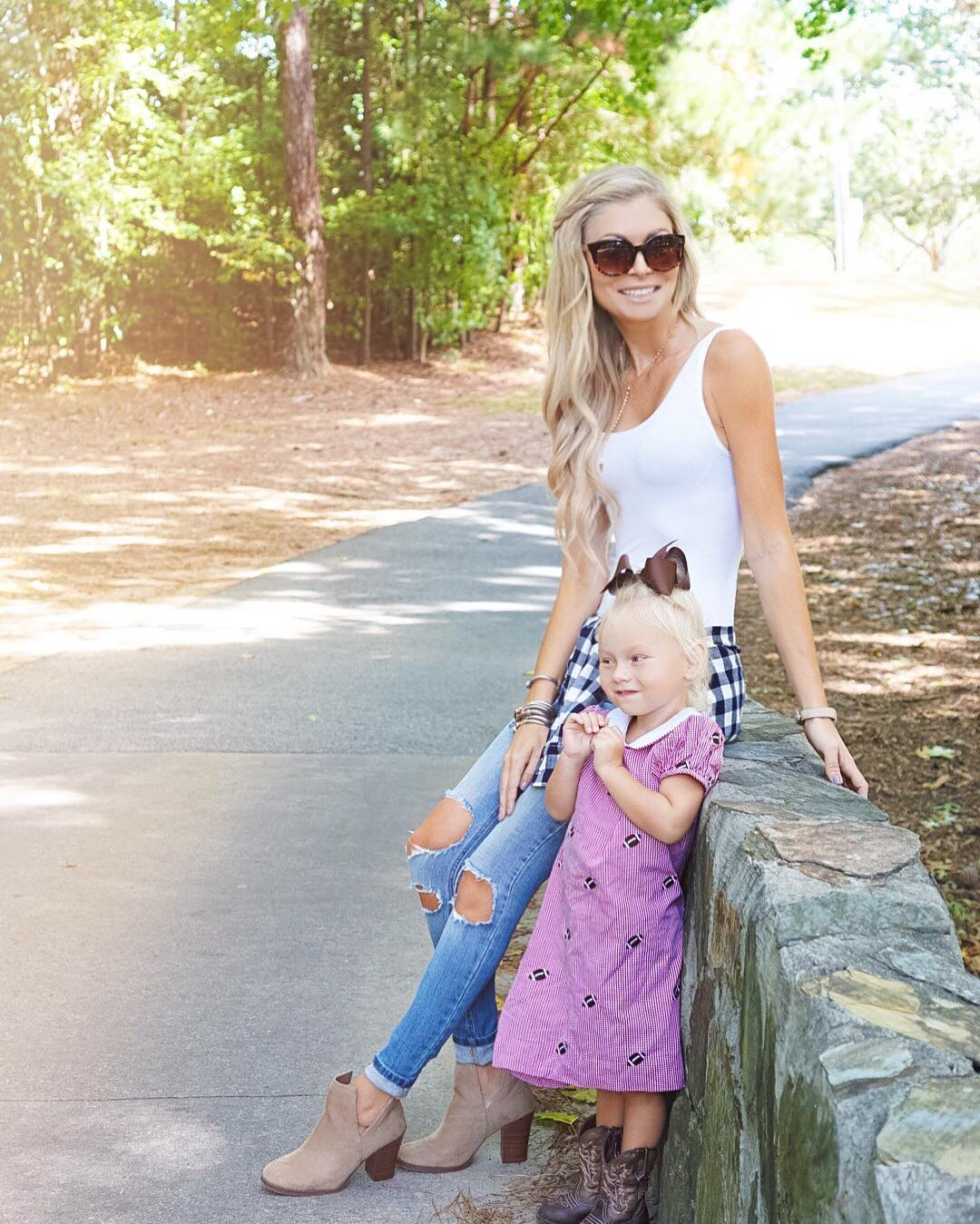 Morning walk with my little football loving babe! Happy Saturday friends!! ☀️☀️ http://liketk.it/2po5E #rolltide #saturdaze #ootd #wiw #momlife #liketkit #liketkitunder50 #lifewithblove