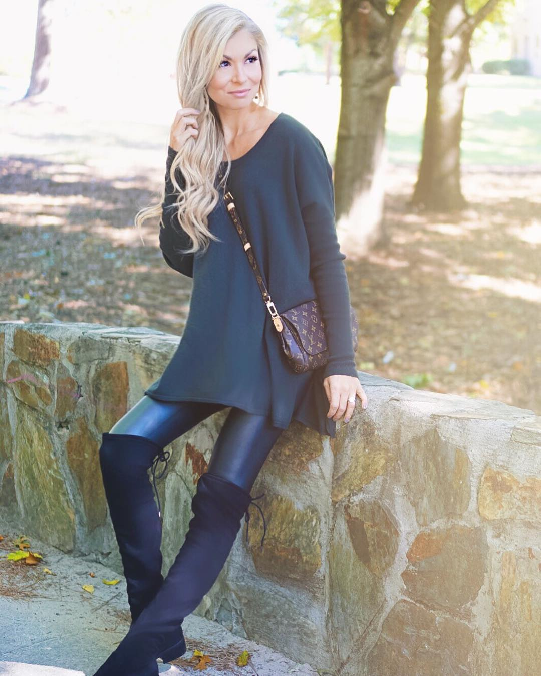 Finally starting to feel like FALL and I couldn't be happier!! {Oversized sweaters and OTK boots give me life!} http://liketk.it/2pmsz #fallfashion #fall #wiw #ootd #sweaterweather