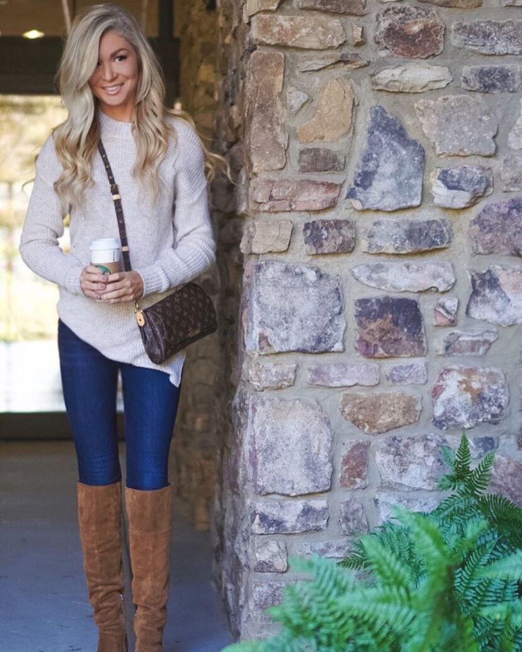 coffee + sweaters + boots My favorite things about Fall! {This oversized sweater is under $40!} http://liketk.it/2pub4 #fall #fallfashion #ootd #wiw #liketkit #liketkitunder50 #coffeeismybff