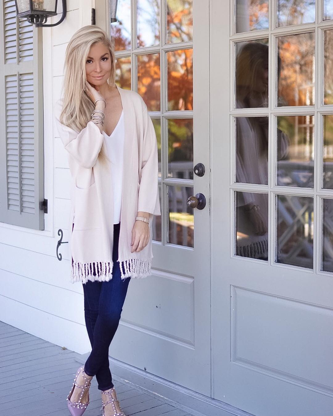 Another day, another sweater...but seriously, I could wear this outfit every single day!! // This tassled cardigan is only $60 and I got SO many compliments wearing it today!! // http://liketk.it/2pDo2 @liketoknow.it #liketkit #fall #fallfashion #ootd #wiw #liketkunder50 #thanksgiving