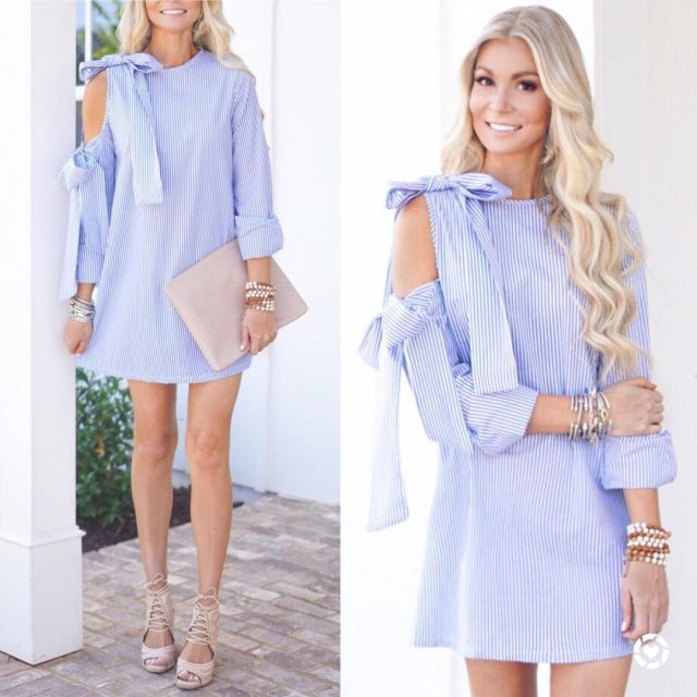 Obsessing over this little blue amp white dress! Im ahellip