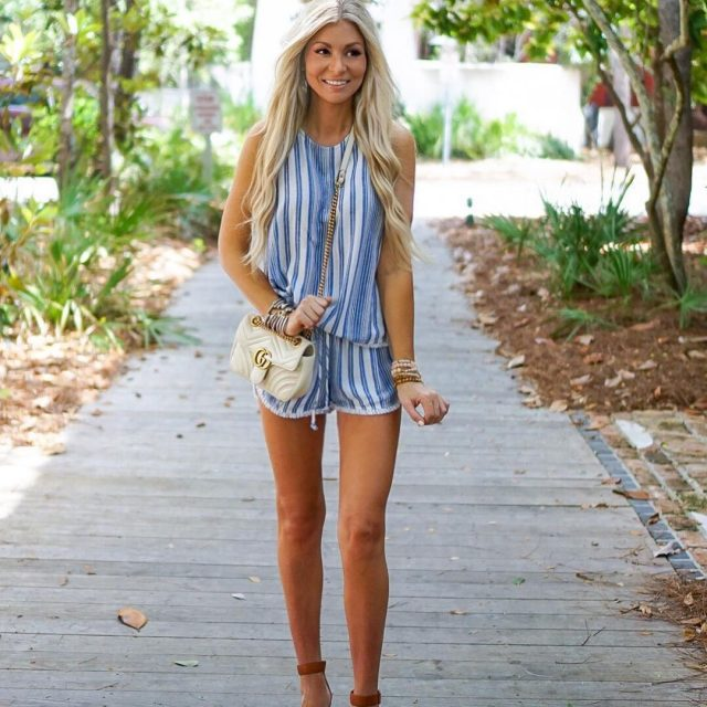 The comfiest little beach outfit! Loving everything striped right now!!hellip