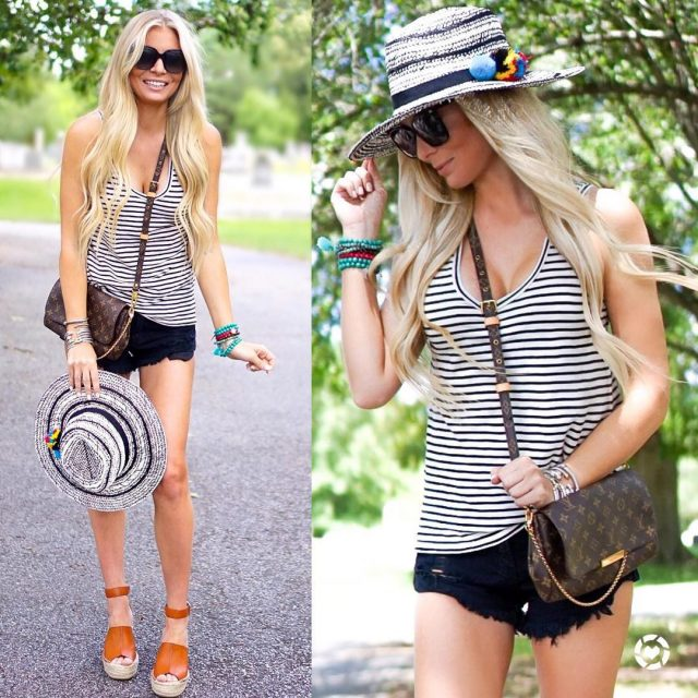 Cant get enough of this striped tank! Under 20 andhellip