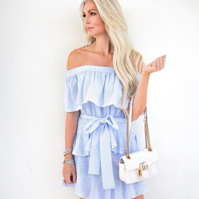 Give me all the ruffled offtheshoulder dresses!  httpliketkit2soG5 liketoknowithellip